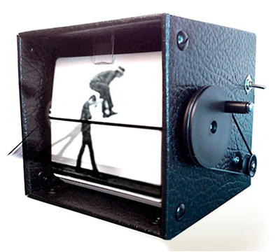"In a similar vein, kinetic artists Mark Rosen and Wendy Marvel launched their  FlipBooKit  at World Maker Faire 2012 in New York. It's a new ""spin"" on the vintage devices known as a Mutoscope  and Kineograph."