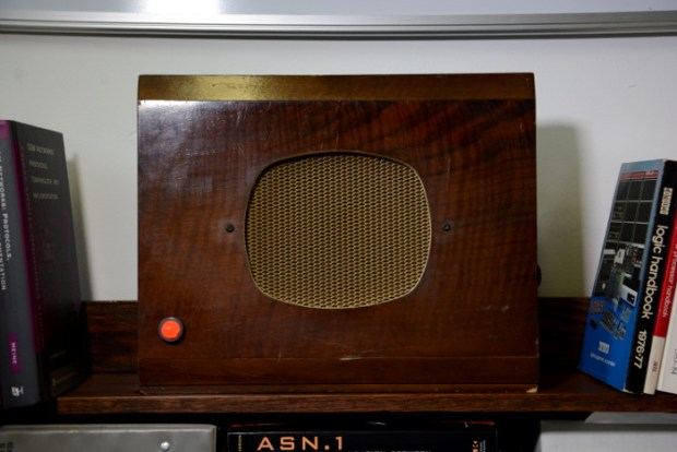 The front of the radio.