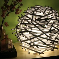 birds nest lamp
