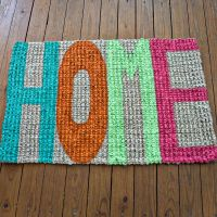DIY handpainted doormat