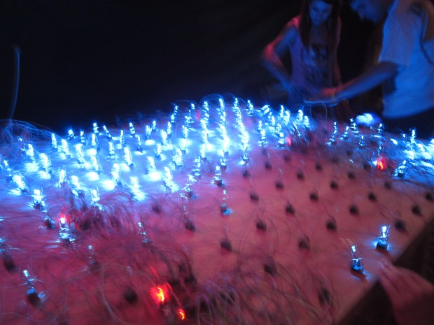 Leandro Nuñez from Argentina's large LED matrix with each LED activated by its own relay.