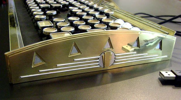 "The ""New Yorker"" Art Deco keyboard detail"