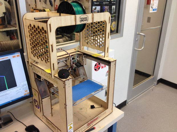 One thing that there isn't a shortage of in the Studio are 3d printers. Here's a Type A Machine Series 1.