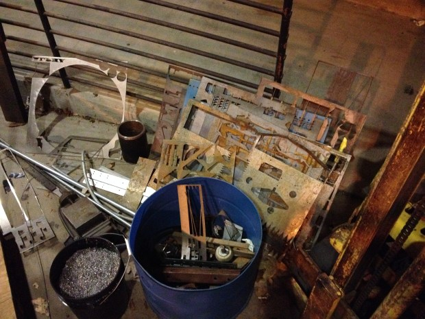 This is what your scrap area looks like when you own a WaterJet.