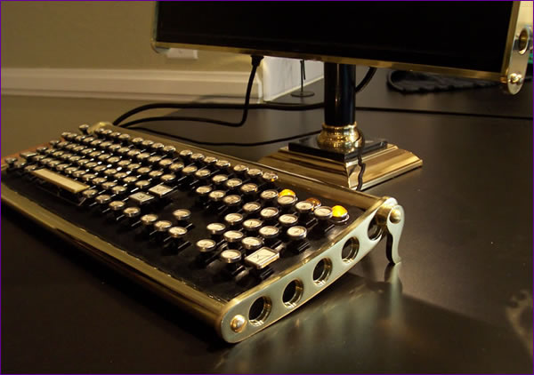 The brass keyboard