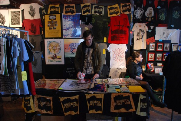 Ray Cross from Bushwick Print Lab at 2012's fair.