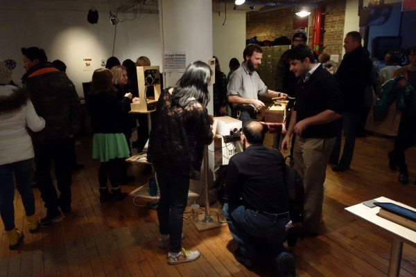 The crowd at ITP's exhibitions are always willing to interact and participate.