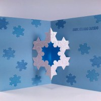 Completed Koch Snowflake card
