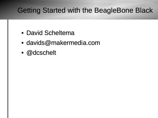Getting Started with BeagleBone Black Slide10