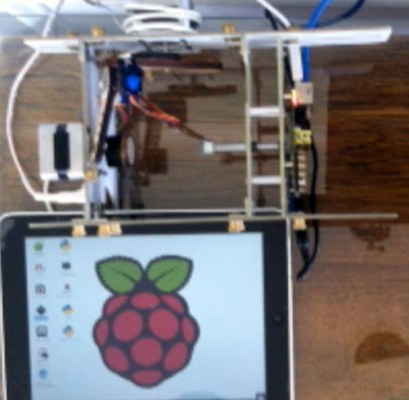 Install a VNC server on the Pi and a VNC client on the iPhone/iPad. Example provided with iPad controlling an EggBot. Now the Pi needs no external computer, keyboard, mouse or monitor — it is all controlled wirelessly from iPad or iPhone.  Project Link