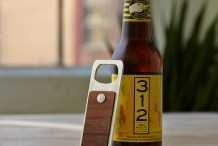 CNC Bottle Opener in Wood and Aluminum
