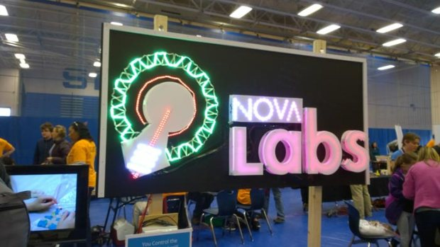 Nova Labs had a sign you could control by tweeting.