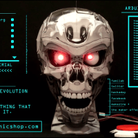 StarBot Chrome Skull Animatronic