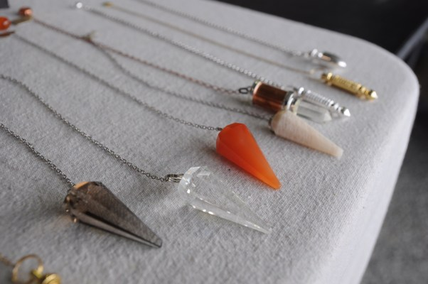 Need a yes or no answer to some of those deep burning questions in your life? Try a pendulum from Riquelle at Pretty Fun jewelry.