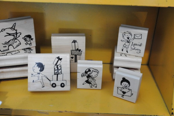 Make an impression on your stationary with these beautifully illustrated rubber stamps by Genevieve Santos.