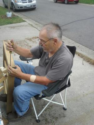 This is my dad.John Borra. He is the man whi taught me to be a maker. He has built canoes,sailboats,teeter totters, boxes and shelves and toys galore. And he has dis assembled more things than I would like to admit but most importantly he gave me and my children the desire to find answers. Thank you. chris Borra Layland (thankful daughter#1)