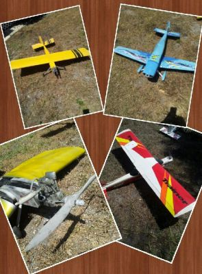 My dad builds R/C model airplanes from scratch. This is a pic of 4 of his planes he flew quite often. My dad has a hobby room full of much bigger & more beautiful planes but these are his favs. My dad taught me how to design, draw, use power tools, about electronics, woodworking and the list never ends :) I am an artist now and I learned lots from my dad. My dad passed recently but I still wanted to share. Happy Fathers Day! Thanks, Elaine Gregory
