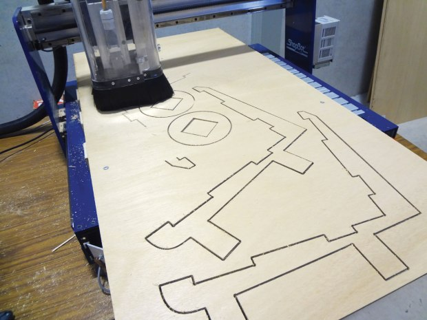 Cutting on a ShopBot
