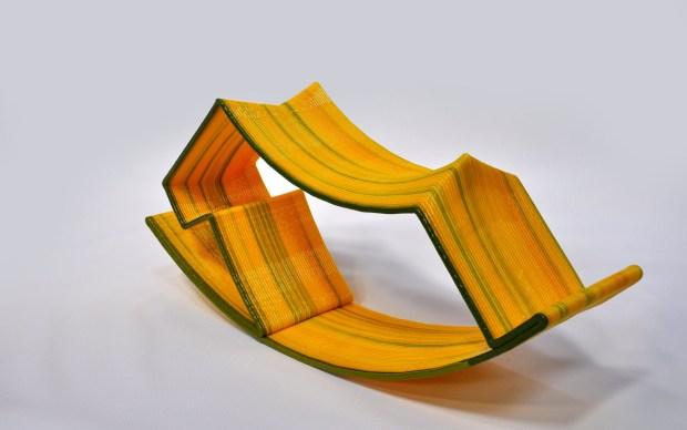 An innovative rocking chair design.
