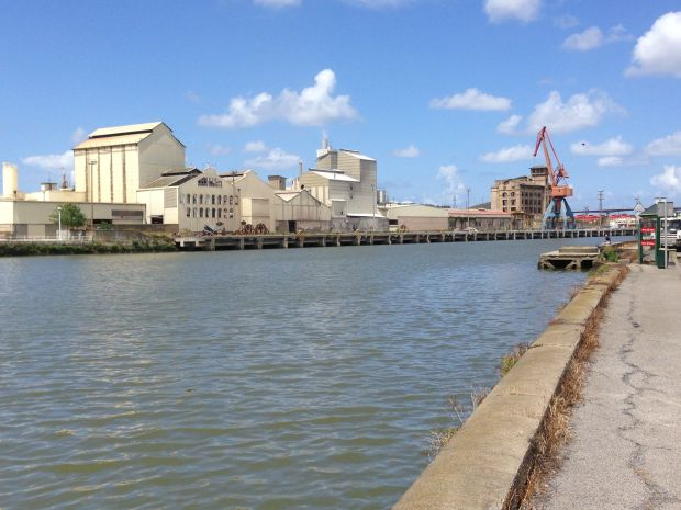 Still some active factories on the river