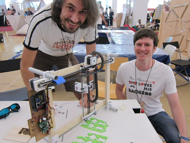 Teja and Philipp of Mr. Beam - an open source, go anywhere laser cutter