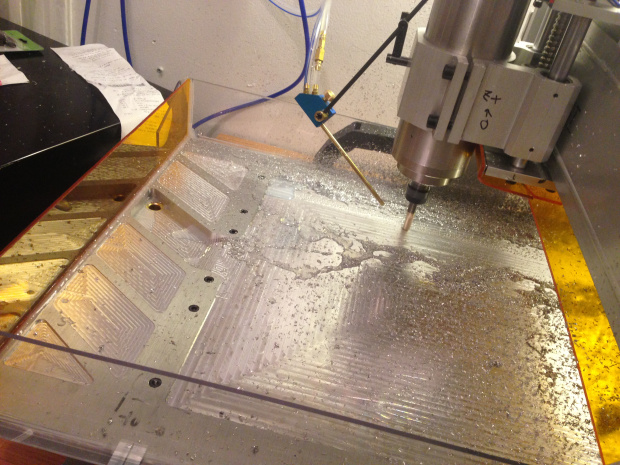 We customized a Chinese CNC router so we can cut metal.