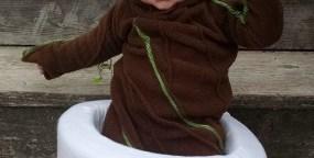A Dancing Baby In A Dancing Baby Groot Costume