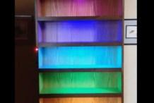 A Sound-Reactive RGB LED Bookshelf