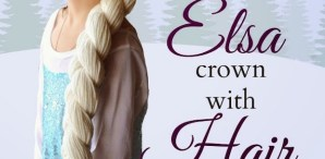 How-To: Frozen-Inspired Crocheted Elsa Crown with Braid