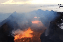 Watch Two Quadcopters Broadcast Live TV Footage — Inside an Active Volcano