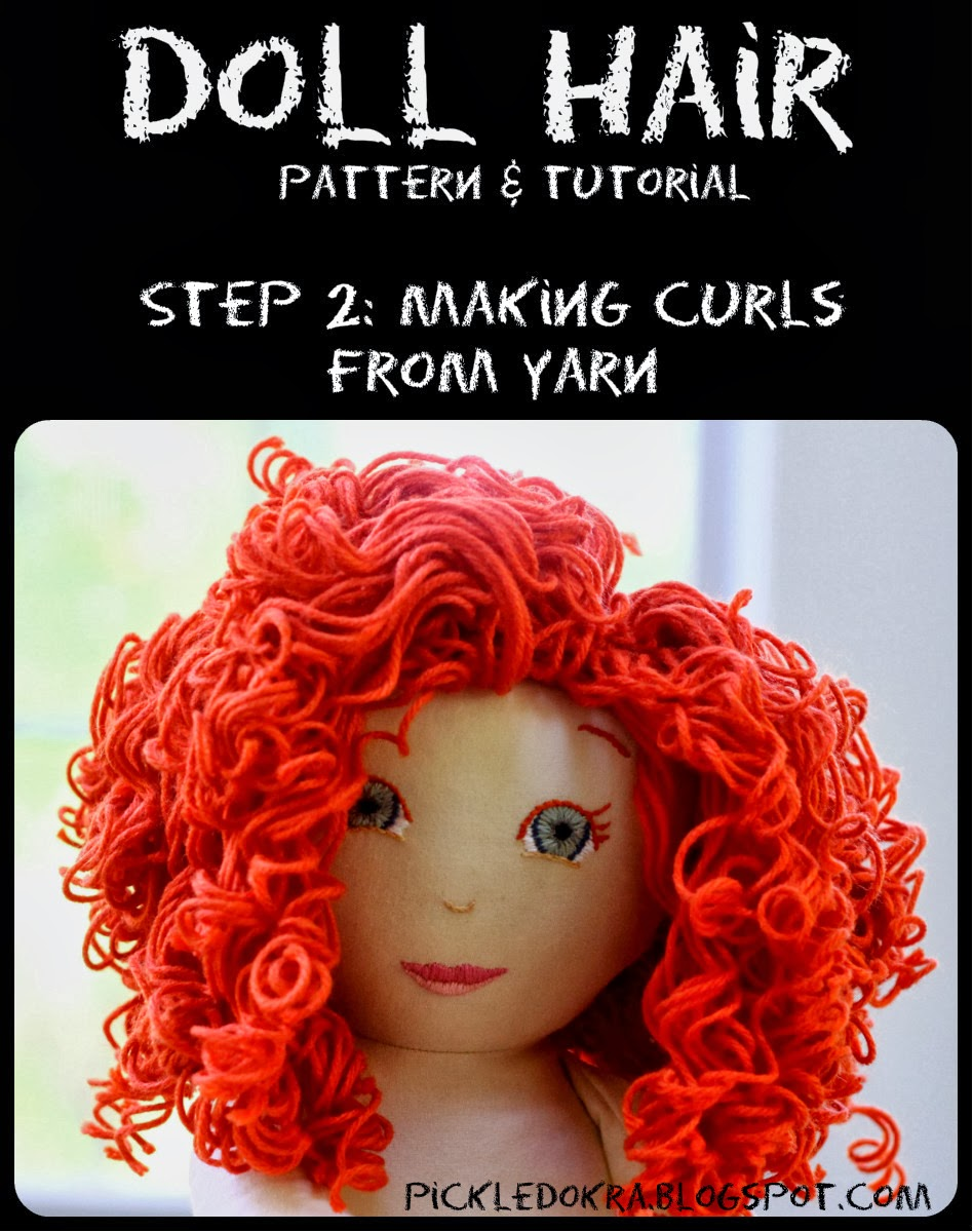 creating curls in yarn diy