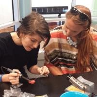 Maker Corps Members at Edventure Children's Museum in 2014.