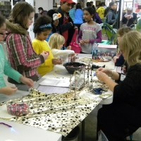 Kids got to try their hands at jewelry making at the Piscataway Public Library.