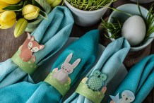 Woodland Animal Easter Egg Cups and Napkin Rings
