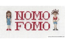 Broad City NOMO FOMO Cross-Stitch Sampler