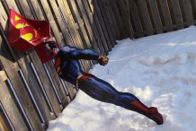 Extreme Cardboarding: The Superman Snow Shovel