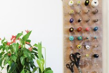 Smart Sewing Room: DIY Thread Hanger