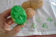 Stamp It: Shamrock Potato Printing