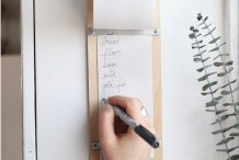 Organize Your Life: DIY Wooden Shopping List Pad