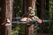 Skywalker vs. Stormtrooper: Endor Speeder Bike Quadcopter Battle
