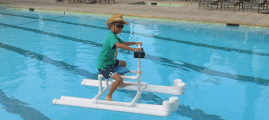 Hydrojet-Powered Personal Pool Pontoon from PVC