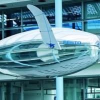 Festo's AirPenguin achieves flight thanks to an internal helium-filled balloon.