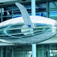 Festo's AirPenguin achieves flight thanks to an internal helium-filled balloon.