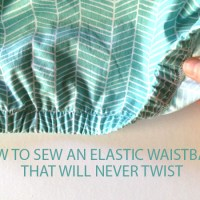Garment Basics: Sew an Elastic Waistband That Will Never Twist