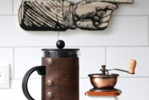 Coffee Upgrade: Leather French Press Cover