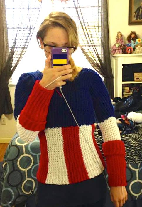 Captain America Knitting Pattern : Cozy Cosplayer Knits a Captain America Bodysuit Make: