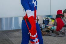 Cozy Cosplayer Knits a Captain America Bodysuit
