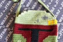 DIY Crocheted Boba Fett Helmet Bag