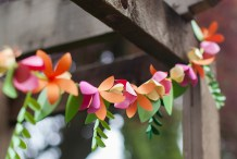 Spring Time Decor: 3D Paper Flower Garland