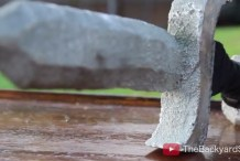 Casting a Pewter Sword with Styrofoam